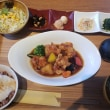 湊町 RIVER CAFE   若鶏黒酢あん定食
