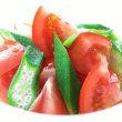 トマトとおくらのつゆぶっかけ。