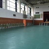 音楽会 体育館準備
