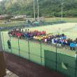 阿南市中学校春季ソフトテニス大会に参加しています