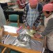 さつま芋を使って手作り和菓子。