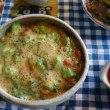 お昼ご飯はオクラ納豆でネバネバ