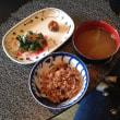 小松菜のおひたしと玄米