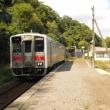 釧網線鱒浦駅で