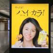 9月15日(金)のつぶやき:井川遥 やってる?ハイ・カラ!(JR東京駅電飾シート広告)