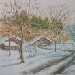 絵「徳佐の雪景色」