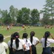 ラオスの子どもたちとサッカー交流試合行われる