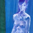 Nude-Muse-angel-Tableau-ヌード-芸術-アート-絵画:夏に至る