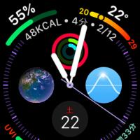 【AppleWatch】文字盤はこんな感じになりました?(笑)