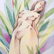 Nude-Muse-angel-Tableau-ヌード-芸術-アート-絵画:君が華咲く