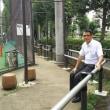 西戸山公園運動場にベンチ(金属製のパイプ形状いす)が設置されました