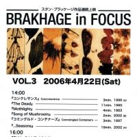 BRAKHAGE in FOCUS VOL.3