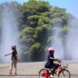 涼水舞う公園
