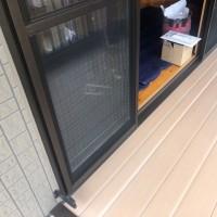 窓用日よけシェード 2階の窓に取付