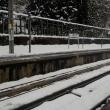 駅の除雪の初仕事
