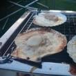 自宅の庭でBBQ ~イカの一夜干し、ふぐの干物、ホタテのバター焼き、大アサリなど~