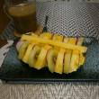 食後のパイナップルいかだ♪