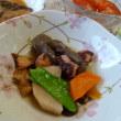 タコとにんじん、長芋、きぬさや、こんにゃくの煮物
