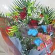 ブルー系花束をお作り致しました。(お誕生日プレゼント用)