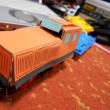 紙製車体(小型機関車)試作機1号作成