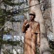 軽井沢のいろいろ 冬の軽井沢に佇む シャーロック・ホームズさん