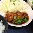 鶏肉の黒酢あんかけ定食を頂きました。 at 鍛冶屋文蔵 神谷町店