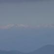 奥三河から初冠雪の白山と御岳山遠望