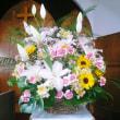 講壇を飾る花20180708