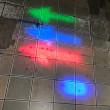 【東京ビッグサイト出展準備3】ライトの点灯チェックをしています!!(ブルーライト、レッドラインライト、矢印ライト、LED前照灯)