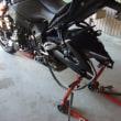 2018/04/08>GSX-S1000 前後タイヤとエンジンオイル交換