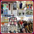 近所の紅梅と水仙 地区の文化祭