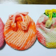 子ども着物古布と絞り端切れで小丸の巾着を作りました♪