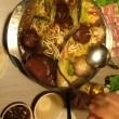 ホタル見物の後の鍋料理