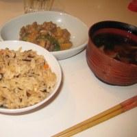 2009年11月30日(月) 夕食(ひじきの炊き込みご飯等)