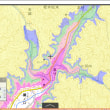 洪水被害避難のための標高範囲を別々の色に塗った地図の作り方。標高100~105~110~120~130~140メートル色別地図
