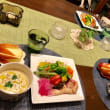 カリフラワーのポタージュとヘルシー夕ご飯