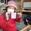 栃木県のご夫婦が旅の途中で手織り体験です。    竹島クラフトセンター