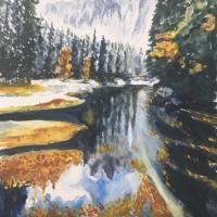暇爺絵日記  水面の森