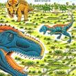 恐竜トリケラトプスとダスプレトサウルス