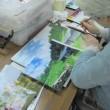 気に入った景色や思い出を、じっくりと作品として仕上げていく教室です。