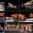 浅草寺とタワーの夜景