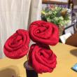 薔薇の花作製。