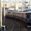 阪急電車 撮影日2017年12月02日 5000系 阪神ジュベナイルフィリーズヘッドマーク
