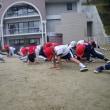 年長組☆マラソンスタート&鬼のお面作り&体操教室