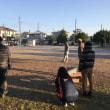公園掃除後に遊びを。