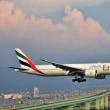 エミレーツ航空の着陸も楽しめる陽も長くなっつた 24/R のアプローチ‼️