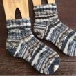 手編み靴下 作品NO.162