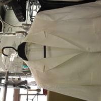 麻のジャケット シミ抜きとノリつけ、水洗い指定