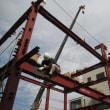 沼津市上香貫 重量鉄骨2.5階建住宅 鉄骨建方工事