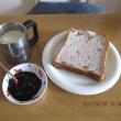 食パンに、ブルーベリージャム